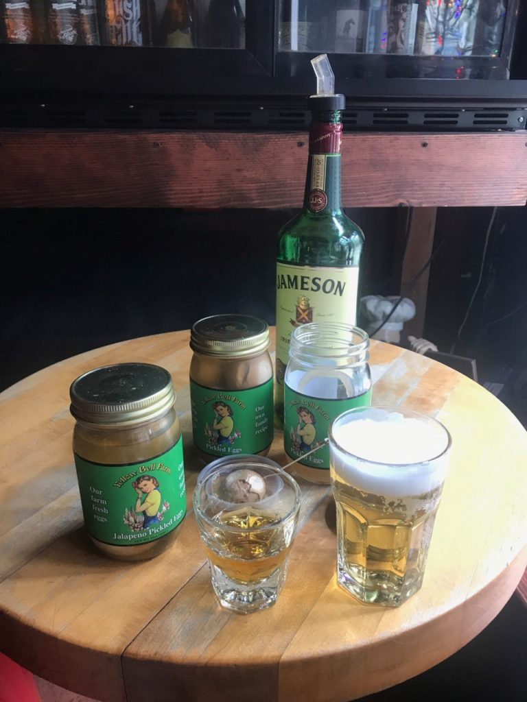 Pickled Eggs with Jameson Whisky