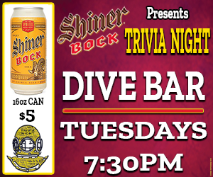 DiveBar Trivia with Shiner Bock